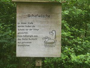 Schafwaschstelle im Naturpark Schönbuch